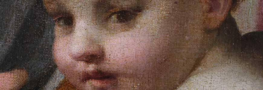 restauration d un tableaux de Del Sarto