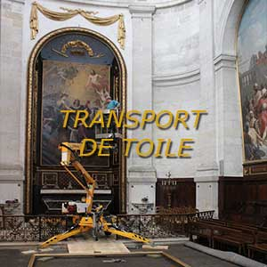 transport de tableau ancien grand format